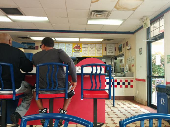 Inside Rancho Bravo, which is quite obviously a converted fast-food joint