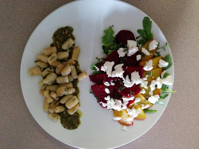 ... Goat Cheese and Ricotta Gnocchi with Roasted Beet Salad - Fancy Frites